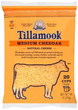Tillamook® Shredded Medium Cheddar Cheese 5 lb. Bag