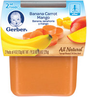 Gerber 2nd Foods Banana Carrot Mango 8 Oz Sleeve