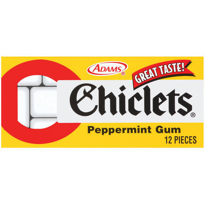 Chiclets Peppermint 12 Piece Gum   Pack