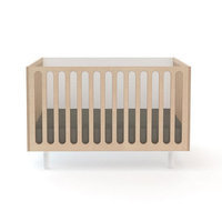 Oeuf Fawn Convertible Crib with Mattress Finish: White