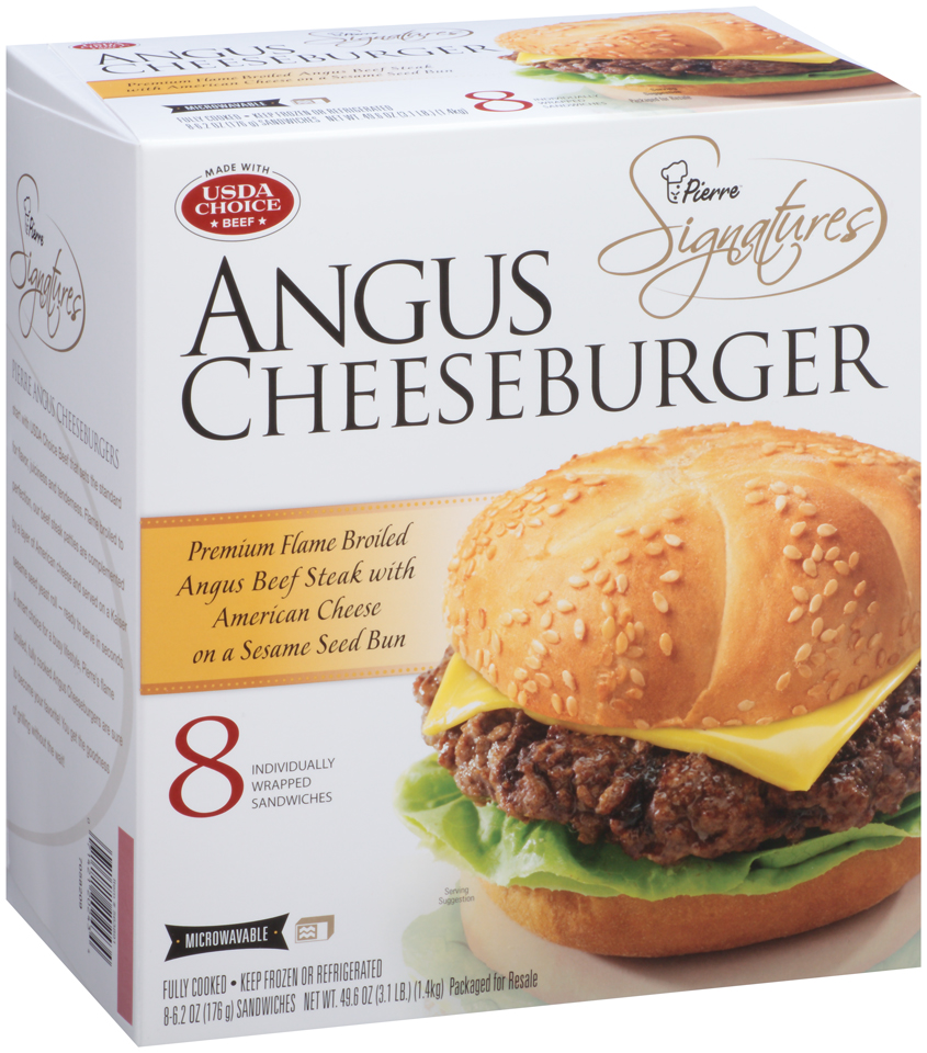 Pierre™ Signatures Angus Cheeseburger 8-6.2 oz. Box