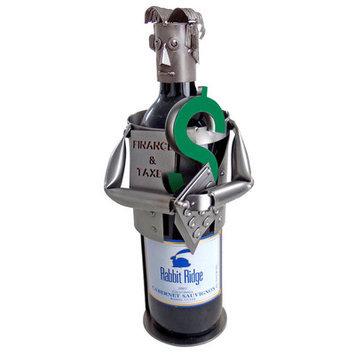 H & K Sculptures Accountant/ Finance Wine Bottle Holder