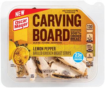 Oscar Mayer Carving Board Lemon Pepper Grilled Chicken Breast Strips 6 oz. Tub