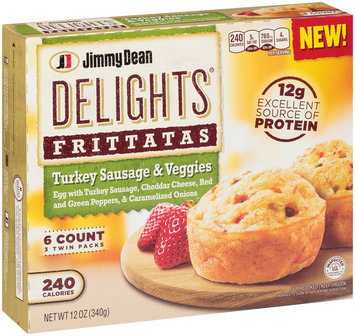 Jimmy Dean Delights® Turkey Sausage & Veggies Frittatas 6 ct Box