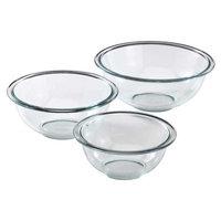 World Kitchen Pyrex Prepware 3-Piece Mixing Bowl Set in Clear