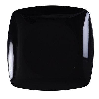 Fineline Settings, Inc Renaissance 5.5 Rounded Square China-Like Plates (Case of 120), Black