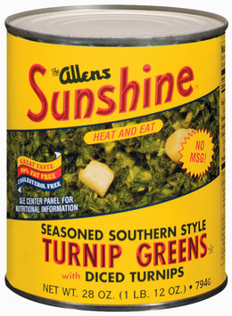 The Allens Sunshine Seasoned Southern Style W/Diced Turnips Turnip Greens 28 Oz Can