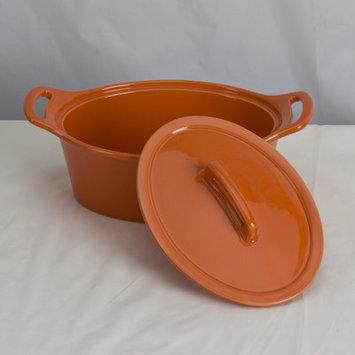 Omniware Stoneware Oval Casserole Size: Large, Color: Orange