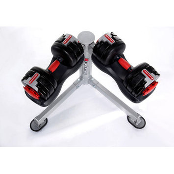 Mileage Fitness Adjustable Dumbbells with Stand Weight: 25 - 60 lbs
