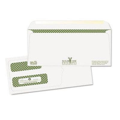 Quality Park Sugarcane Paper Double Window Envelopes