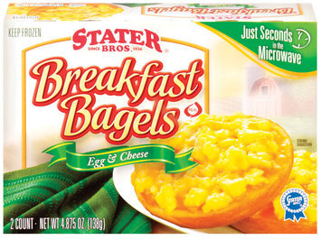 Stater Bros. Breakfast Egg & Cheese 2 Ct Bagels  4.875 Oz Box