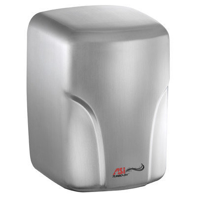American Specialties Turbo-Dri High Speed Surface Mounted 120 Volt Automatic Hand Dryer Finish: Satin Stainless Steel