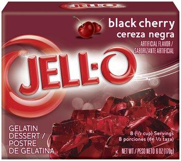 Jell-O Black Cherry Gelatin Dessert 6 Oz Box
