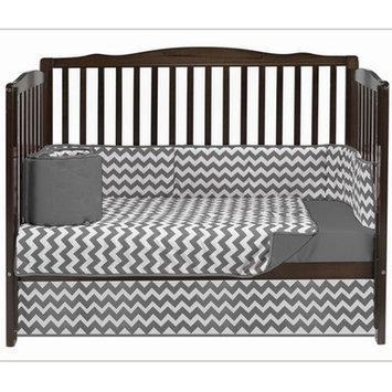 Baby Doll Bedding Chevron 4 Piece Crib Bedding Set Color: Grey