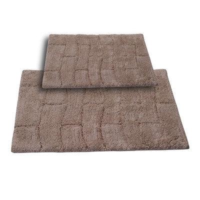 Textile Decor Castle 2 Piece 100% Cotton New Tile Spray Latex Bath Rug Set, 34 H X 21 W and 40 H X 24 W