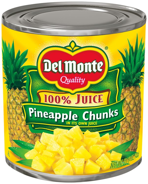 Del Monte™ Pineapple Chunks in 100% Pineapple Juice 15.25 oz. Can