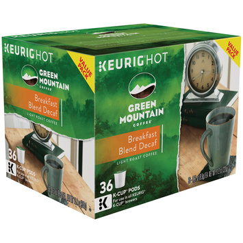 Keurig® Hot Green Mountain Coffee® Breakfast Blend Decaf Light Roast Coffee K-Cup Pods 36-0.31 oz.
