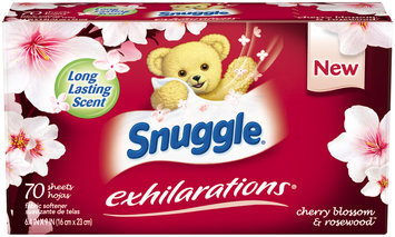 Snuggle® Exhilarations® Cherry Blossom & Rosewood™ Fabric Softener Dryer Sheets 70 ct Box