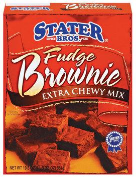 Stater Bros. Extra Chewy Mix Fudge Brownie Mix 18.25 Oz Box