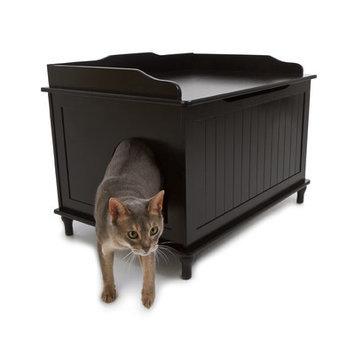 Designer Pet Products Black Litter Box DCB-B