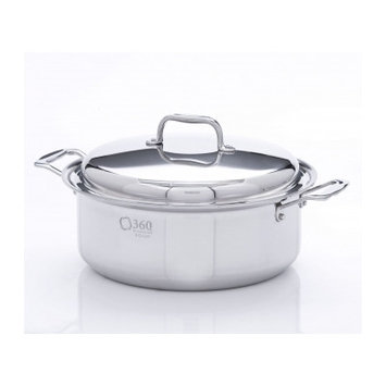Cookware Stock Pot with Lid Size: 6 Quarts