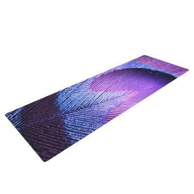 Kess Inhouse Purple Peacock by Monika Strigel Yoga Mat