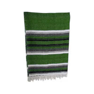 Yoga Direct Traditional Mexican Yoga Blanket Color: Dark Green