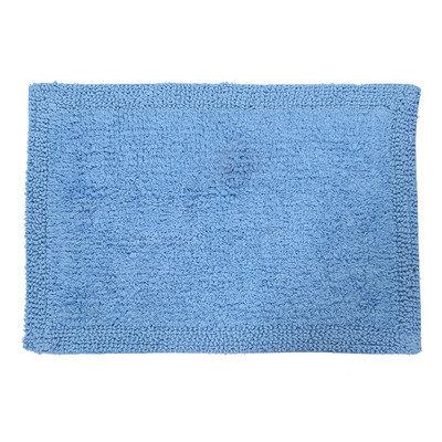 Textile Decor Castle 100% Cotton Bella Napoli Reversible Bath Rug, 40 H X 24 W, Medium Blue