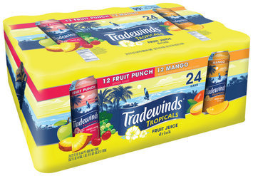Tradewinds Fruit Punch & Mango Fruit Juice Drink 24-23 fl. oz. Cans