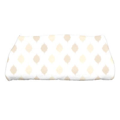 E By Design Hanukkah Ikat Dot Stripes Bath Towel Color: Cream