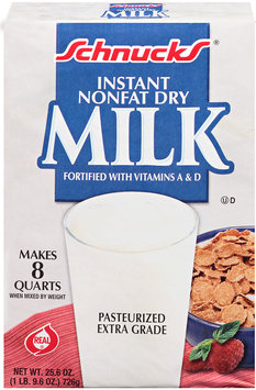Schnucks® Instant Nonfat Dry Milk 25.6 oz. Box