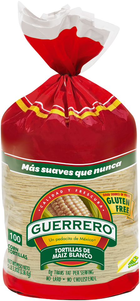 Guerrero® White Corn Tortillas 100 ct Bag