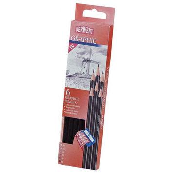 Derwent 0700835 Graphic 6-Pencil Tin Set