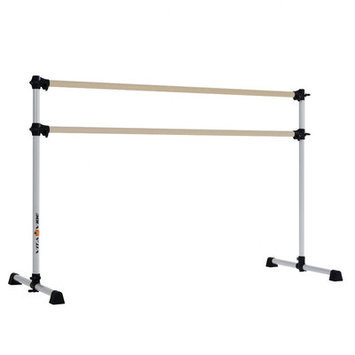 Vitavibe Prodigy Series Traditional Wood Double Bar Ballet Barre Size: 5 ft.