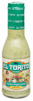 El Torito® Cilantro Pepita Caesar Dressing 12 fl. oz. Glass Bottle