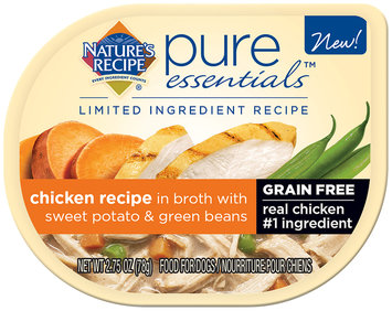 Nature's Recipe® Pure Essentials™ Chicken Recipe in Broth with Sweet Potato & Green Beans Wet Dog Food 2.75 oz. Package