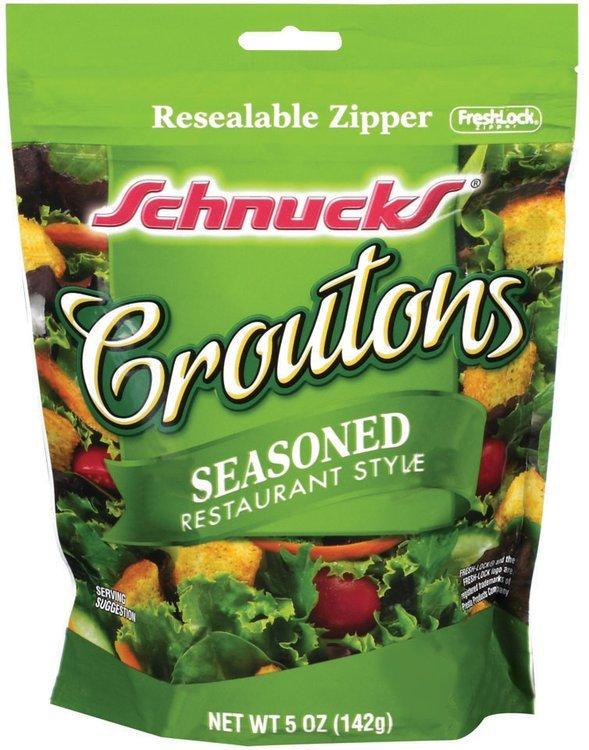Schnucks Seasoned Restaurant Style Croutons 5 Oz Peg