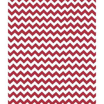 Sheetworld Chevron Zigzag Portable Mini Fitted Crib Sheet Color: Red