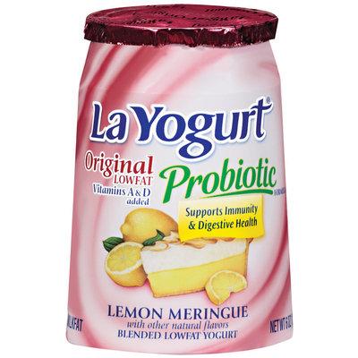 La Yogurt® Original Lowfat Probiotic Lemon Meringue Yogurt 6 oz Cup