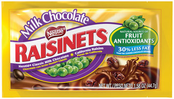 RAISINETS Milk Chocolate Covered Raisins 1.58 oz. Pouch