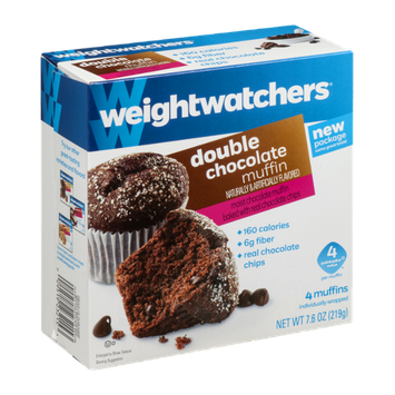 Weight Watchers Double Chocolate Muffin - 4 CT