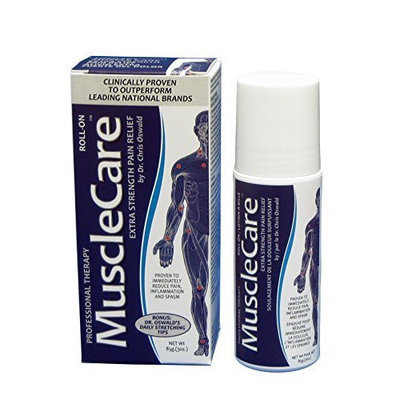 Dr. Oswald's MuscleCare Natural Pain Relief Gel, Extra Strength Roll-On, Topical Analgesic