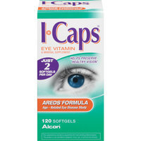 Alcon I-Caps Areds Formula Eye Vitamin & Mineral Supplement Softgels