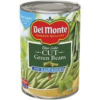 Del Monte : Cut Blue Lake No Salt Added Green Beans