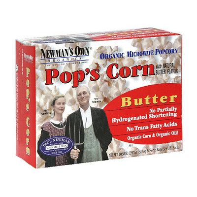 Newman's Own Organics Microwave Butter Popcorn