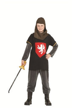 RG Costumes 90048-S-M Medieval Silver Knight Costume - Size Child-Medium