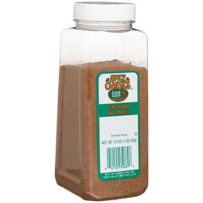 Spice Classics Nutmeg, Ground, 16-Ounce Plastic Bottle (Pack of 2)