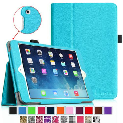 Fintie Folio Slim-Fit Case Cover for Apple iPad Mini 2 with Retina Display (2013) & Mini (2012), Blue