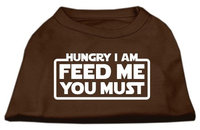 Ahi Hungry I Am Screen Print Shirt Brown XXXL (20)