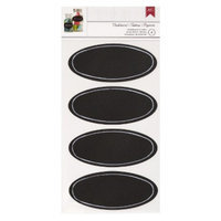American Crafts Chalkboard Oval Stickers - 4 Pc